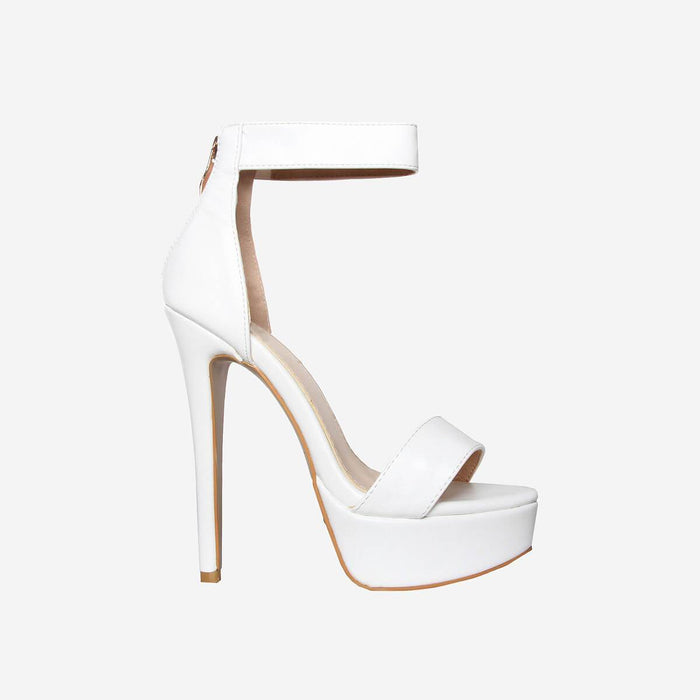 DIOR IVORY WHITE FAUX PLATFORM HEELS - Abuze shoes
