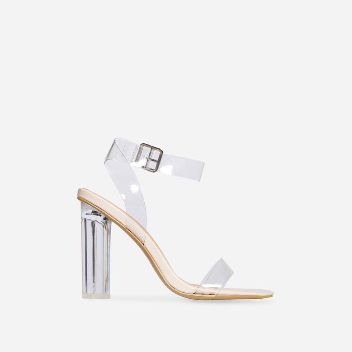 FILIS CLEAR PERSPEX BLOCK HEEL