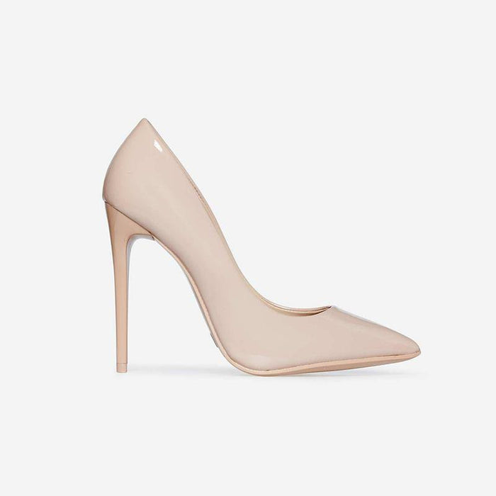 GAIA NUDE STILETTO COURT HEELS