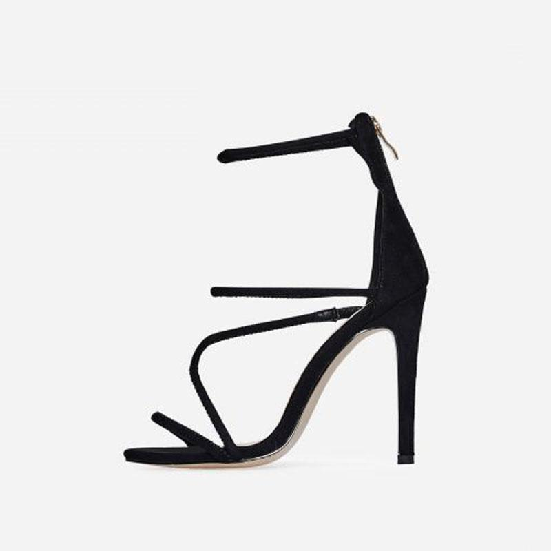 GIGI SUEDE JAGUAR BLACK HEELS - Abuze shoes