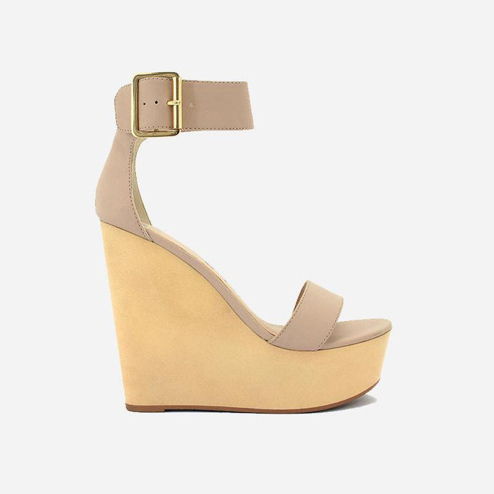 Saint Laurent Nude Wedges - Abuze shoes