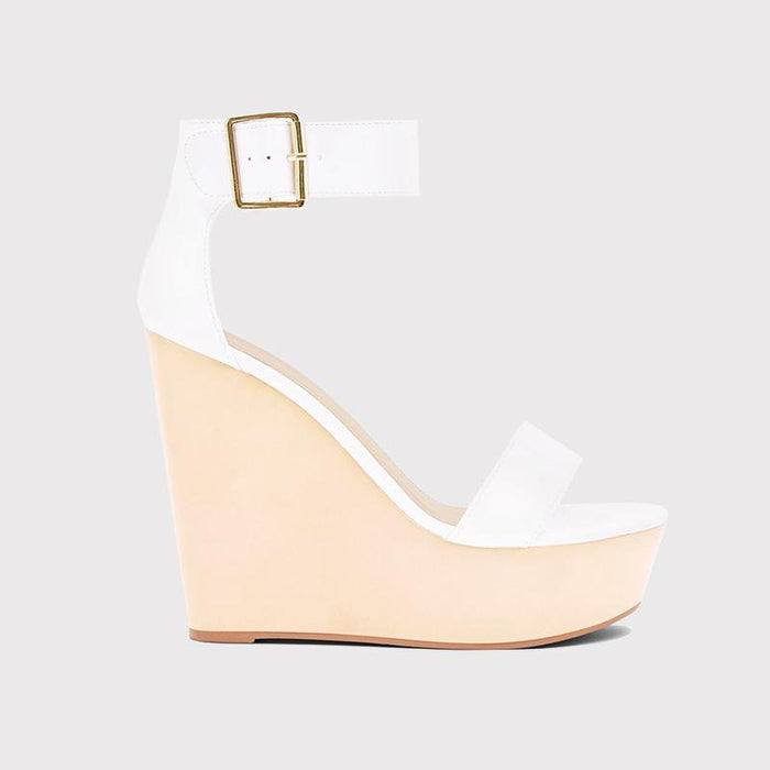 Saint Laurent Ivory White Wedges - Abuze shoes