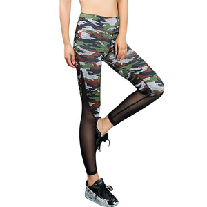 Women's Camouflage Mesh Workout Leggings