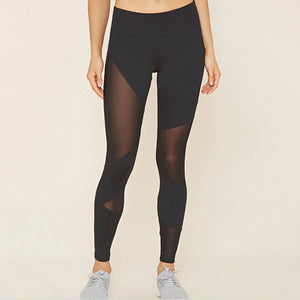 High Waist Mesh Patch Workout Leggings