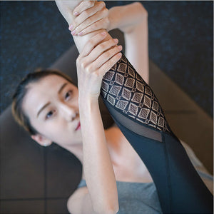 Lace Mesh Fitness Leggings