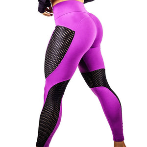 High Waist Mesh Splicing Workout Leggings