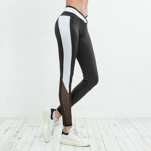 Mid Waist Mesh Women's Leggings