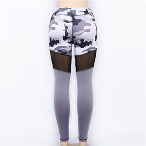 Mesh Camouflage Workout Leggings