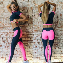 Pink Booty Crop Top And Leggings Set