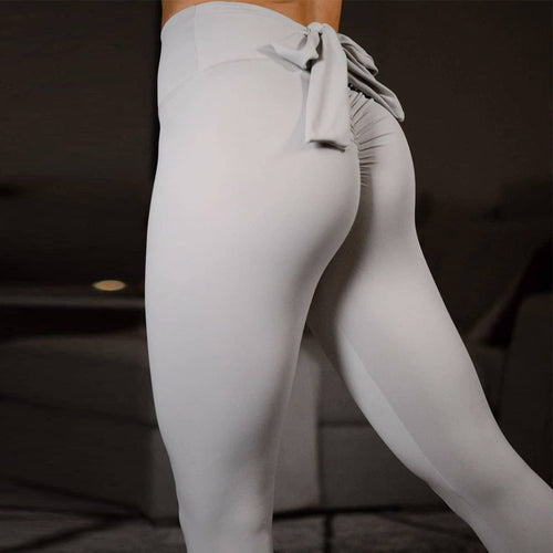 Push Up Workout Leggings Bow Scrunch