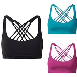 Padded Spaghetti Strap Fitness Sports Top