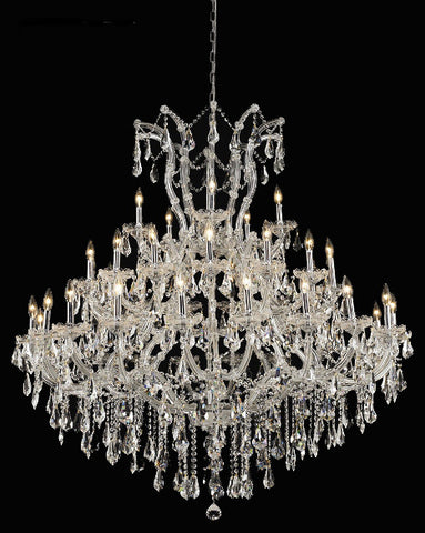"Crystal Chandelier Traditional style 36""D X 36""H Chrome for Foyer - Torino Lighting Design"