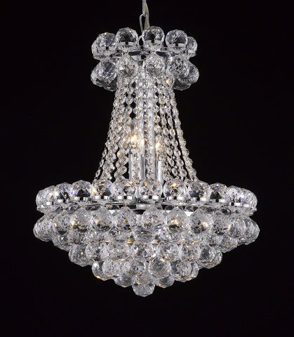 "Crystal Chandelier 20""D X 26""H Sure to complement any entry - Torino Lighting Design"