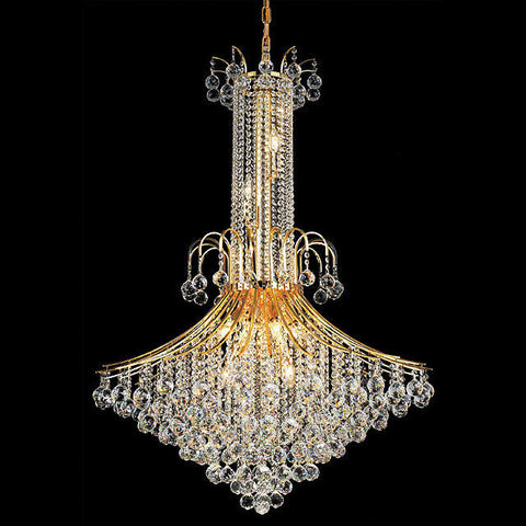 Crystal Chandelier For Foyer Gold - Torino Lighting Design