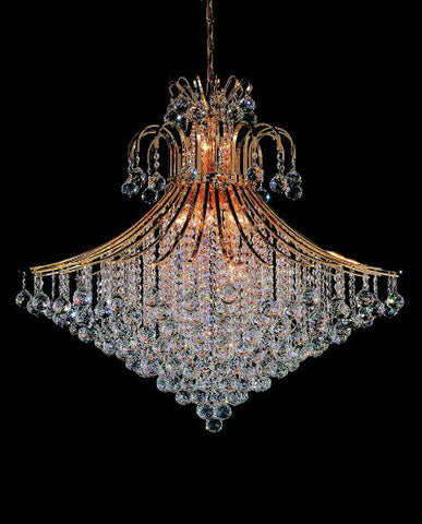 Crystal Chandelier Gold - Torino Lighting Design