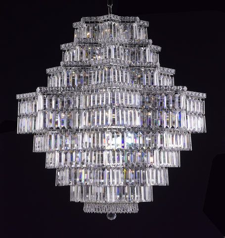 Crystal Chandelier chrome - Torino Lighting Design