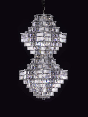 Crystal Chandelier for Foyer Chrome - Torino Lighting Design