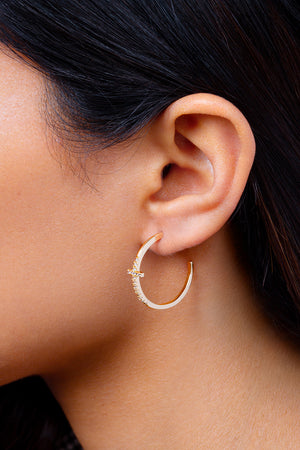 Faith Hoop Earrings