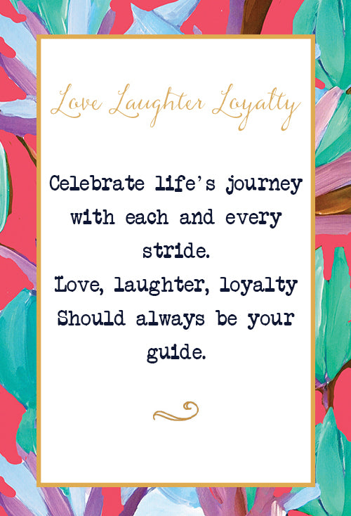 Love Laughter Loyalty Flip Bracelet