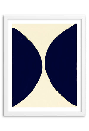 Lunar Navy Abstraction Framed Print