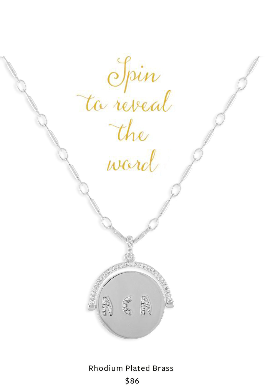 CZ Mom Spinner Necklace