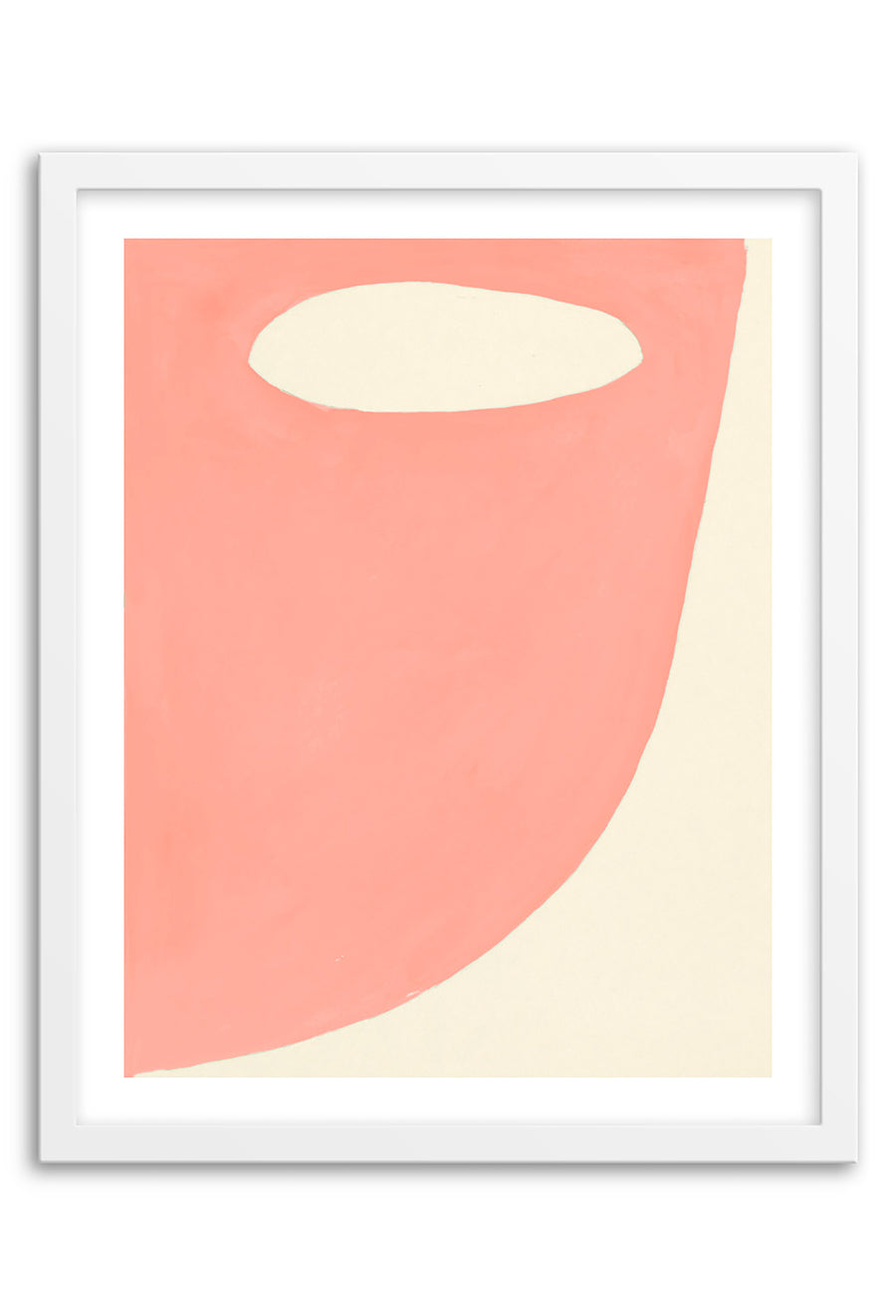 Mountain Blush Abstraction Framed Print