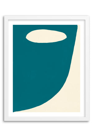 Mountain Dark Teal Abstraction Framed Print
