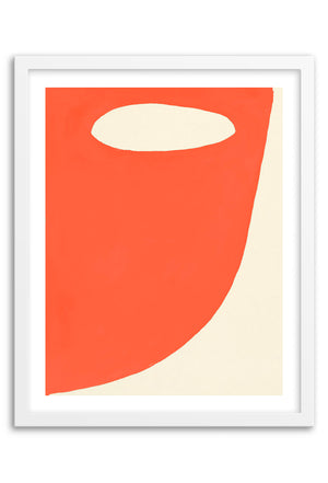 Mountain Orange Abstraction Art Print