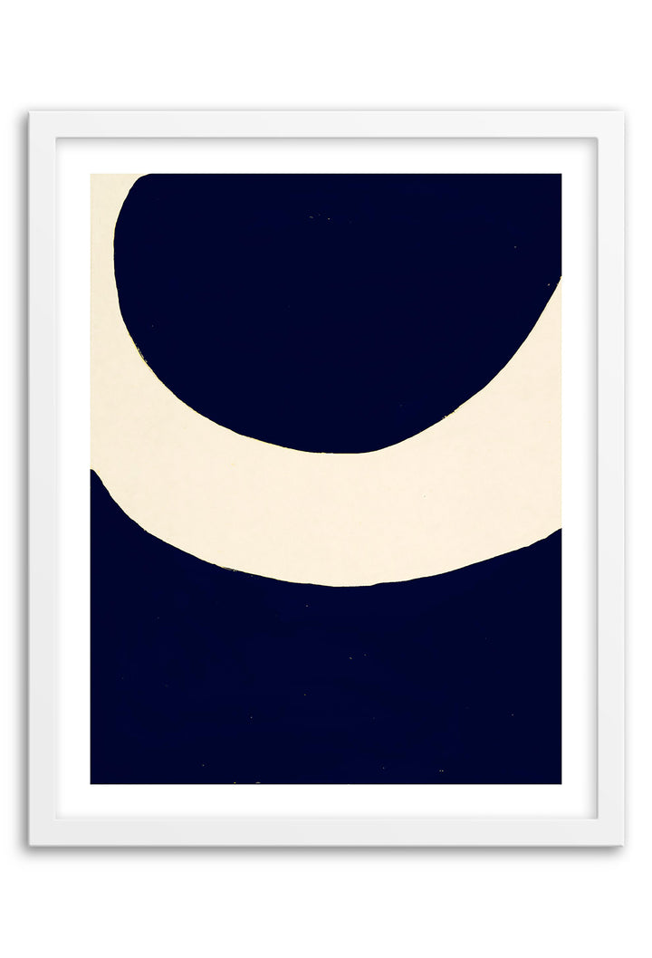Sun Navy Abstraction Art Print