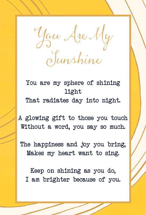 You Are My Sunshine Flip Bracelet