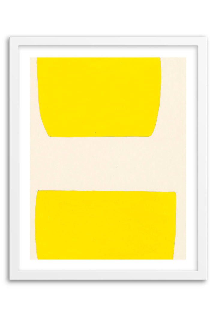 Valley Electric Yellow Abstraction Art Print