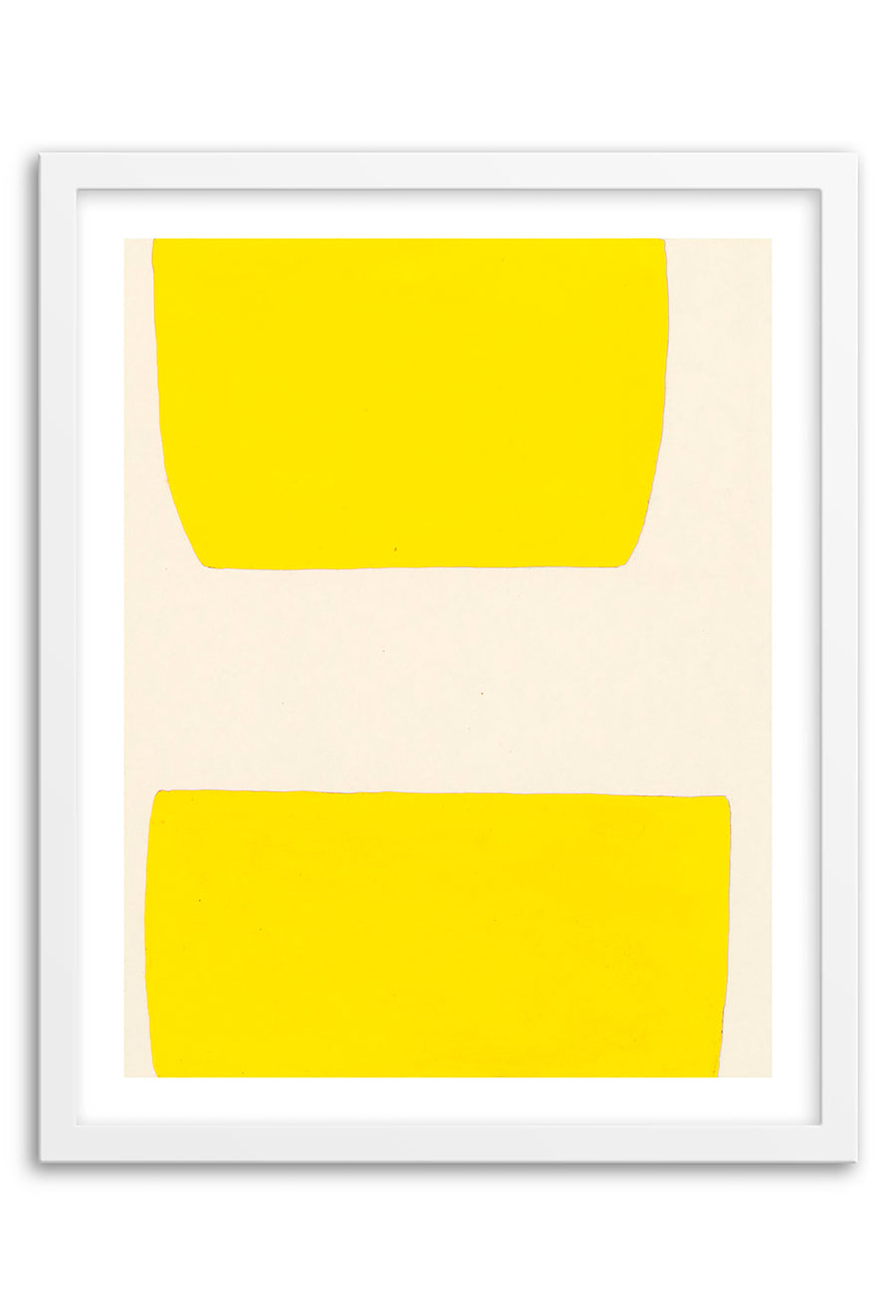 Valley Electric Yellow Abstraction Framed Print