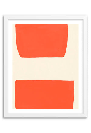 Valley Orange Abstraction Art Print