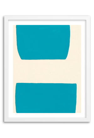 Valley Teal Abstraction Framed Print