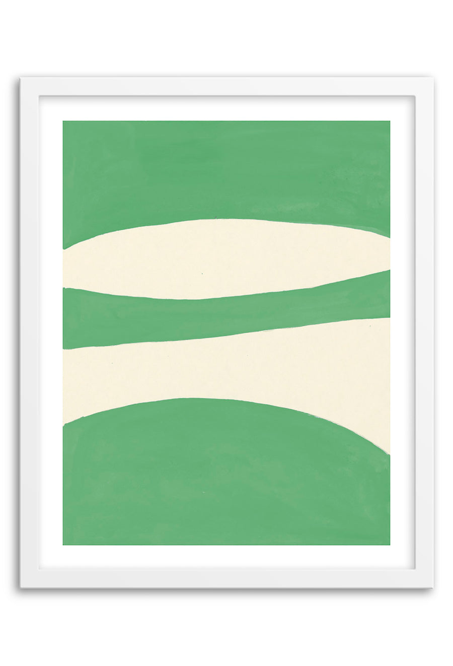Waterfall Green Abstraction Art Print