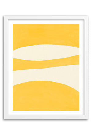Waterfall Yellow Abstraction Art Print