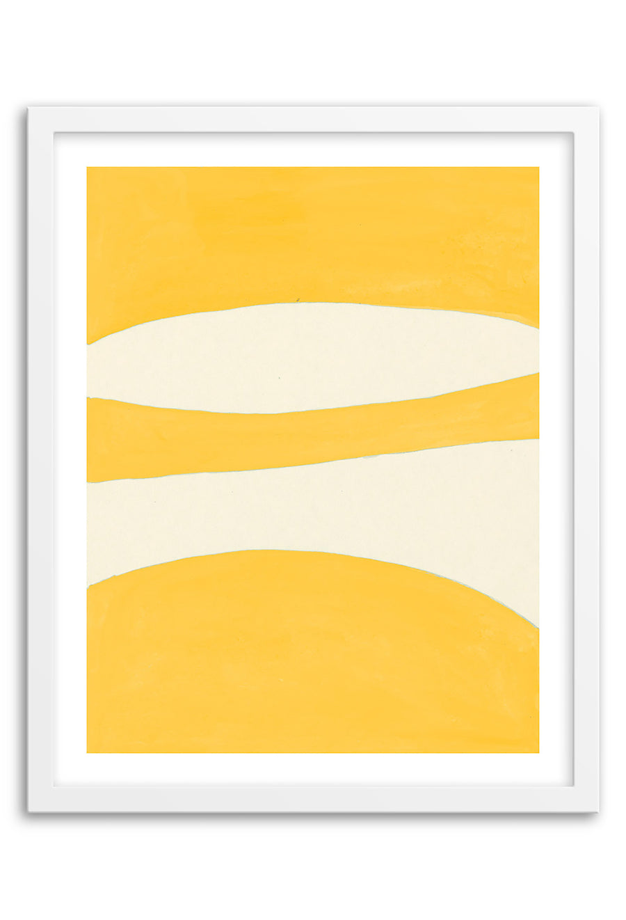 Waterfall Yellow Abstraction Framed Print