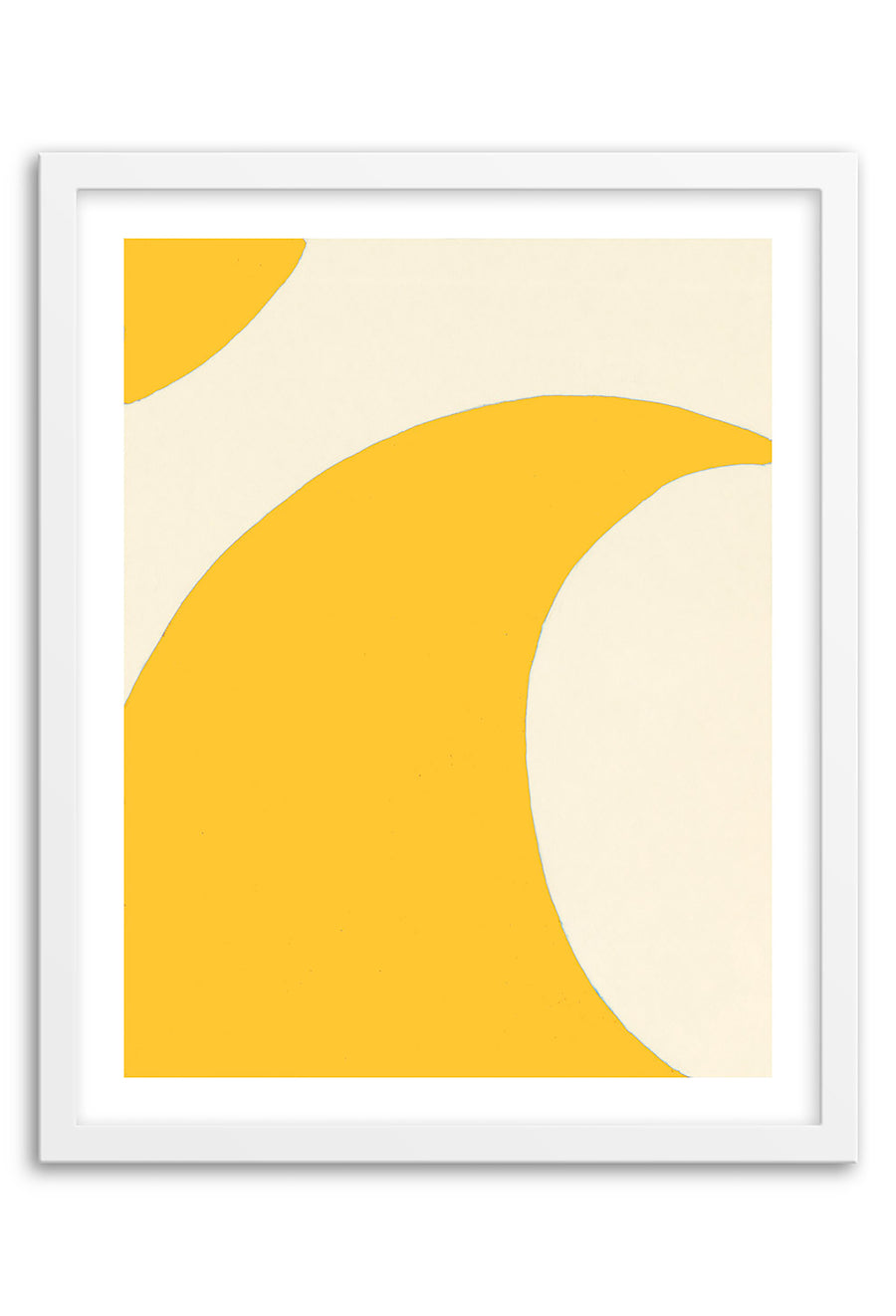 Wave Yellow Abstraction Art Print