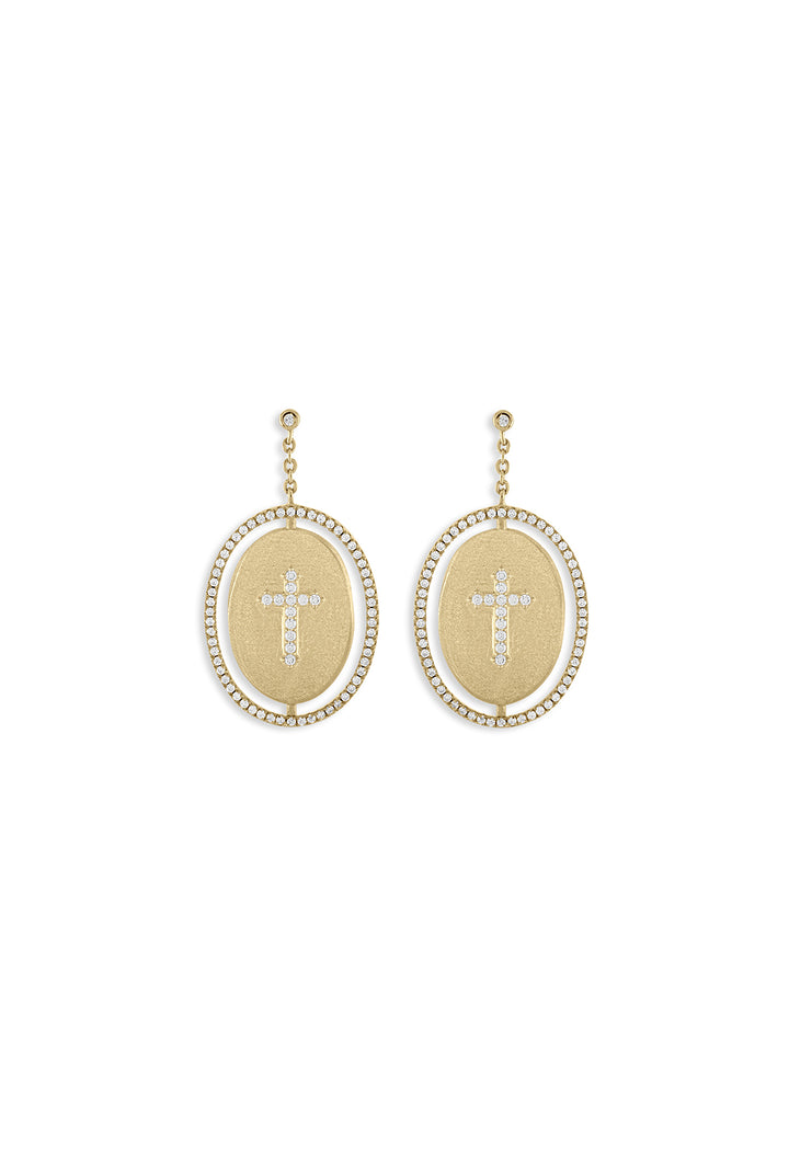 Faith Oval Earrings