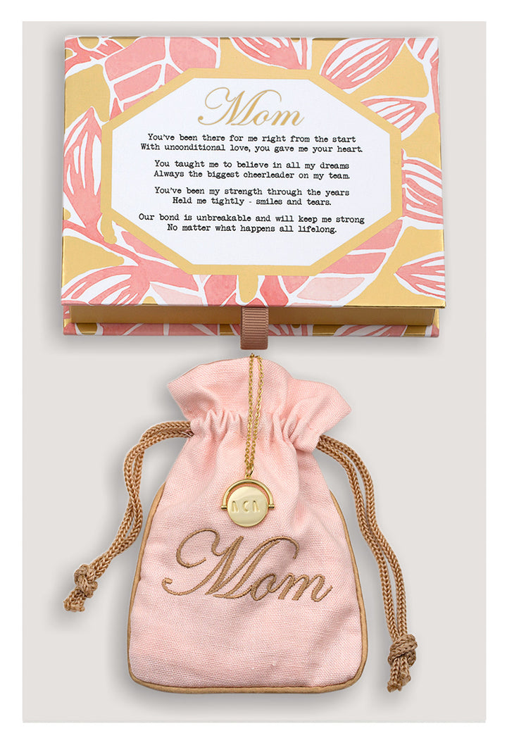 Mom Vermeil Love Code Charm