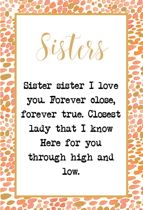 Petite Sisters Love Code Charm 60mm LULU DK Simple Love Sisters Photo