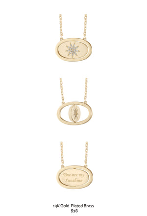 You Are My Sunshine Flip Necklace