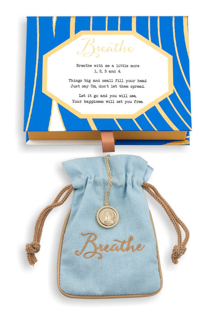 Breathe Flip Vermeil Necklace