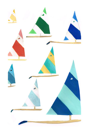 Lulu's Art Decals, Sunfish Multi