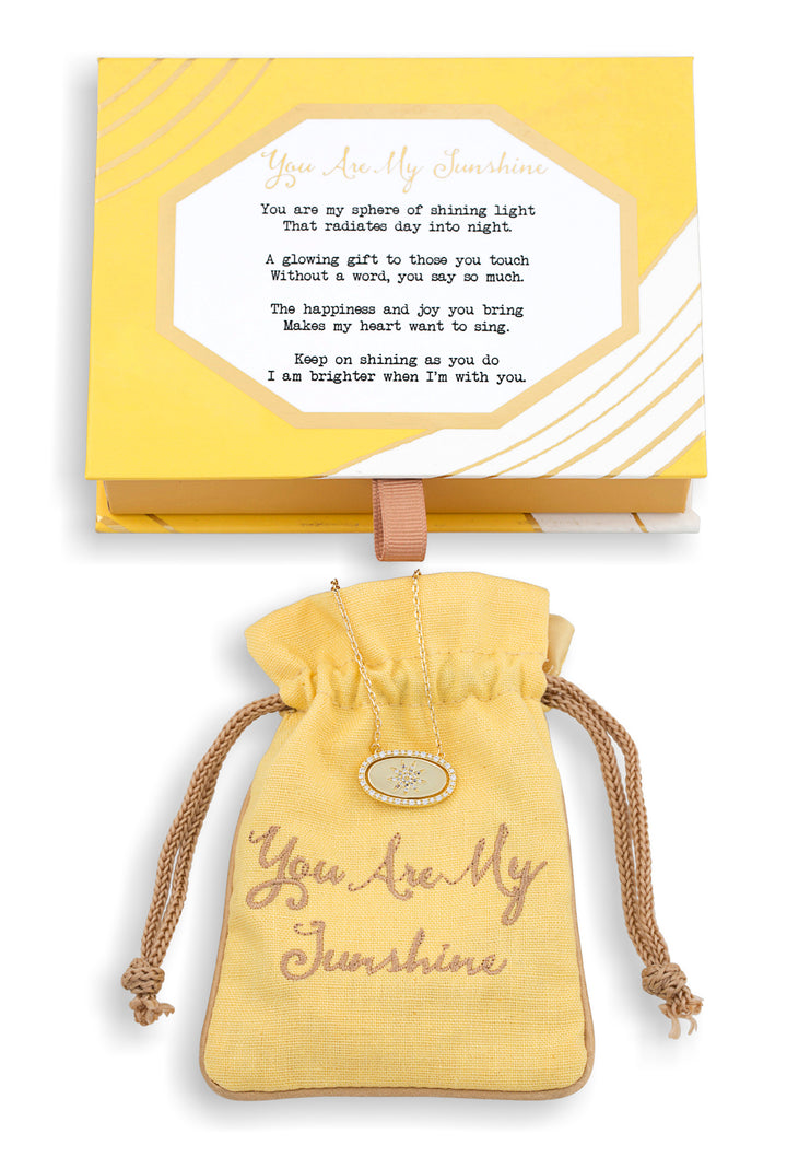 You Are My Sunshine Vermeil Flip Necklace