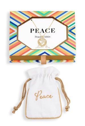 'Peace' Medallion Cutout