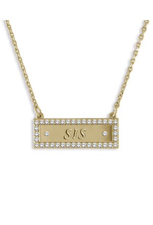 SIS Bar Necklace