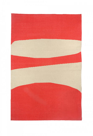 Waterfall Watermelon Abstraction Rug