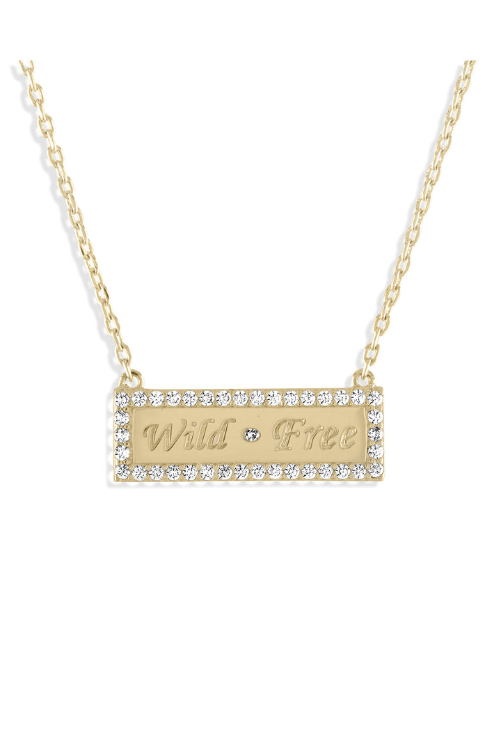 Wild Free Bar Necklace