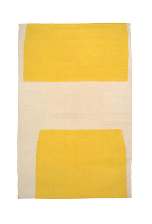 Valley Yellow Abstraction Rug